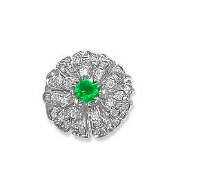 1.60ct VVS Diamond & Emerald in 14k Ring (Certified)