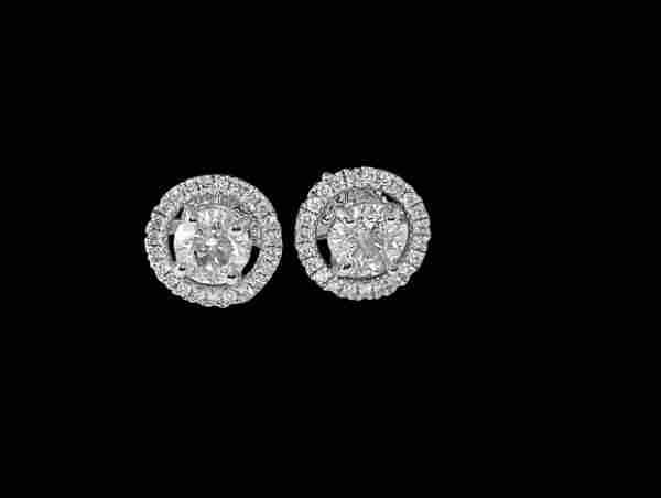 Luxury, 18K White Gold & Diamond Jacket Earrings.