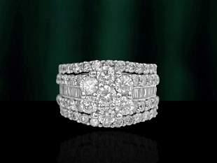 3.75ct Diamond 14K White Gold Womens Ring