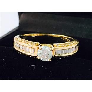 14k Gold, 0.50CT VS/G Diamond Engagement Ring