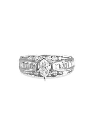 Vintage 2.40ct Diamond Gold Engagement Ring 14K Gold