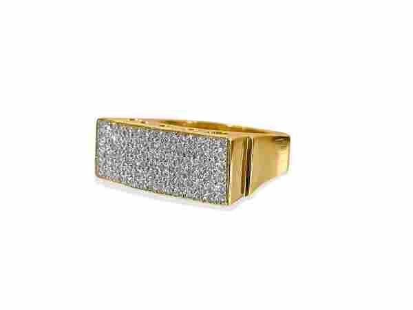 Contemporary 3.00 Carat Diamond 18K Gold Cluster Ring