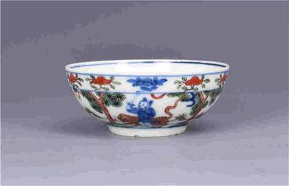 Blue and colours character bowl