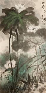 Liu Haisu, Chinese modern flower and bird painting