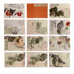 Wu Changshuo, ancient Chinese flower and bird painting