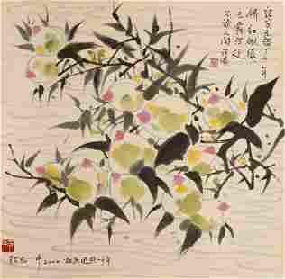 Wu Guanzhong, Chinese modern flower and bird painting
