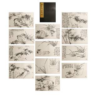 Zheng Banqiao, ancient Chinese flower and bird painting