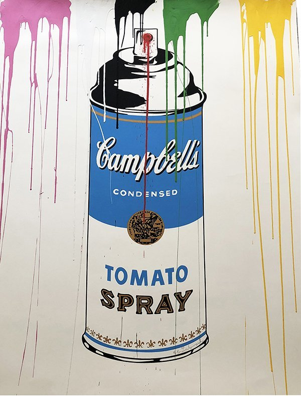 MR.BRAINWASH, Campbell's Tomato Spray