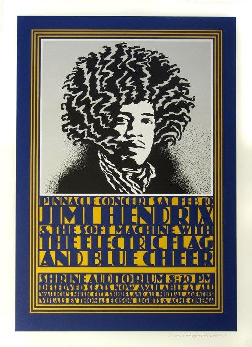 """JOHN VAN HAMERSVELD, """"Jimi Hendrix Poster"""""""