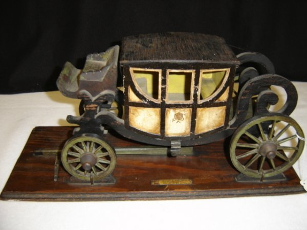 11: Carved & Painted Stage Coach Model