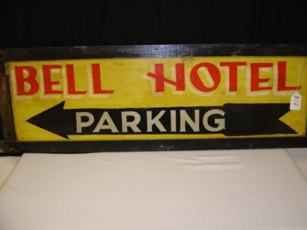 12: Bell Hotel Parking Sign
