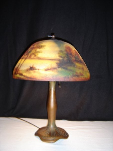 14: Moe Bridges Scenic Painted Lamp
