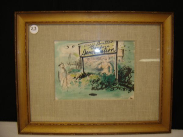23: Water color on paper by William Sanders Fanning.