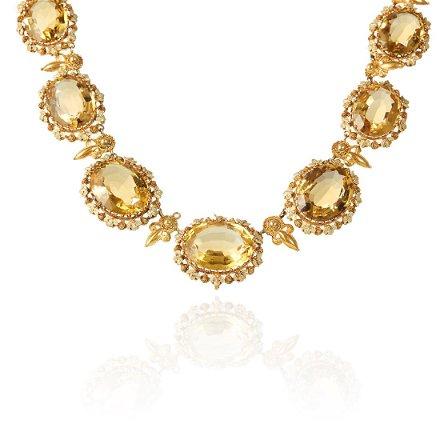 An Antique Citrine Riviera Necklace