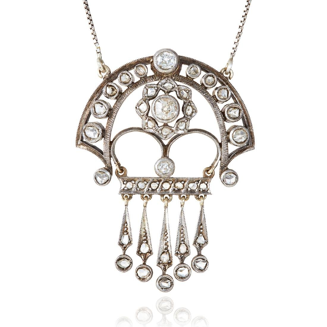 AN ANTIQUE DIAMOND PENDANT NECKLACE, EARLY 20TH CENTURY