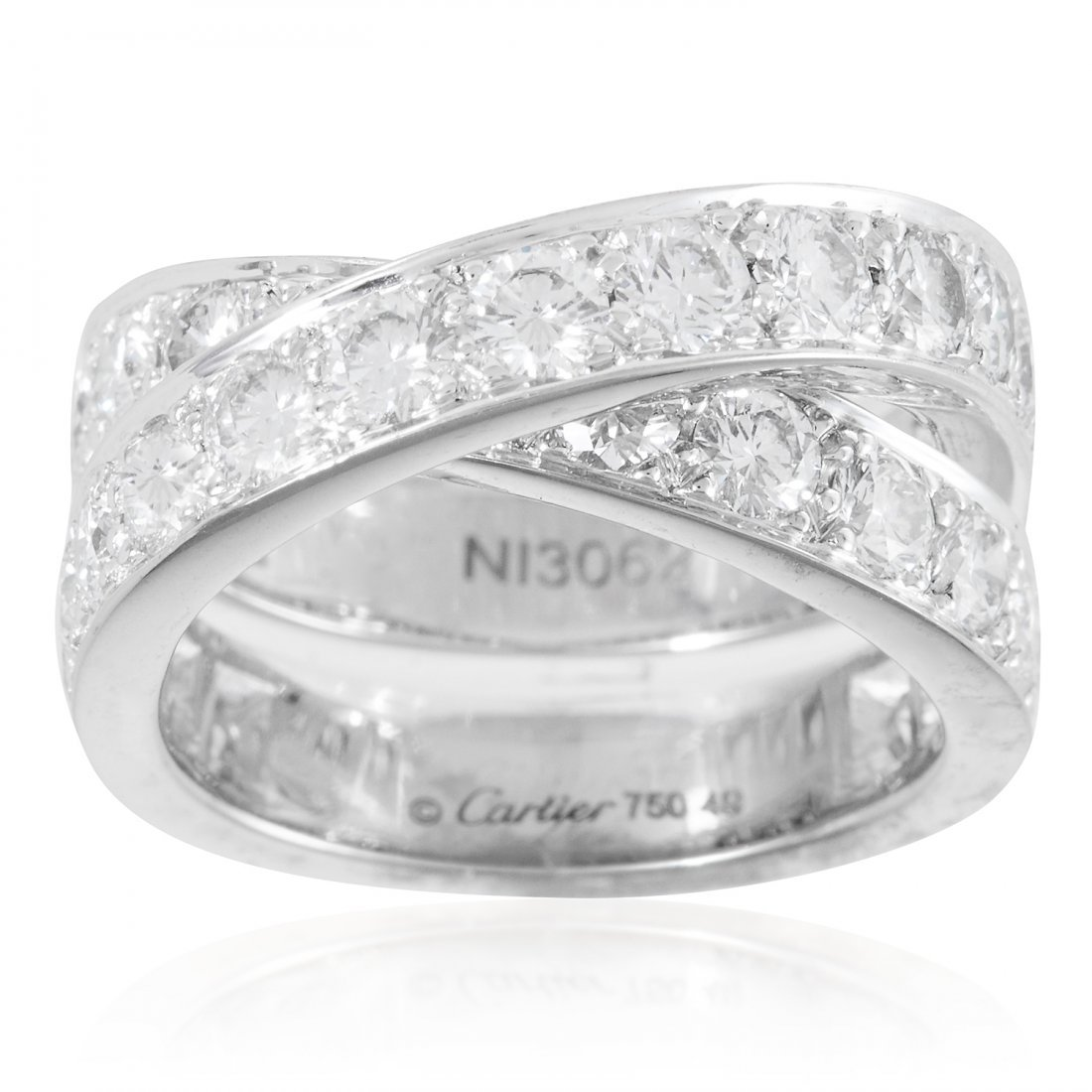 A 2.75 CARAT DIAMOND DRESS RING, CARTIER in 18ct white