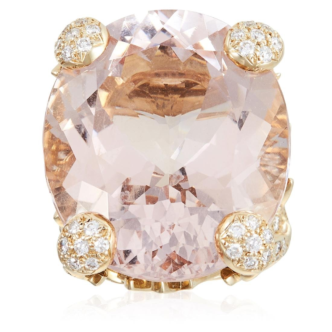 A 55.00 CARAT MORGANITE AND DIAMOND DRESS RING, DIOR in