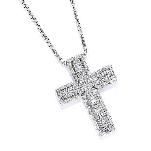 babe268f526c51 THEO FENNELL - an 18ct gold diamond cross pendant. - Aug 14, 2014 ...