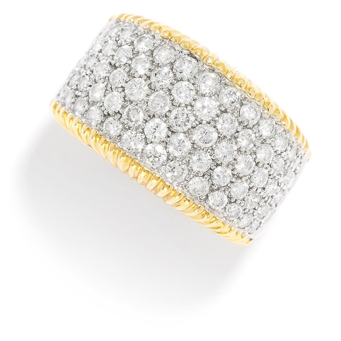 1.60 CARAT DIAMOND DRESS RING in 18ct yellow and white