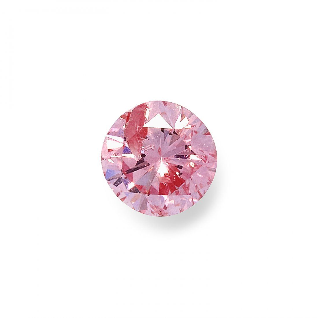 A 0.21 CARAT FANCY INTENSE PURPLISH PINK DIAMOND RING