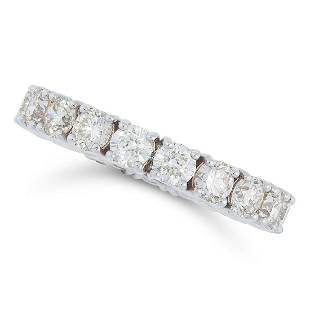A 284 CARAT DIAMOND FULL ETERNITY RING set with a