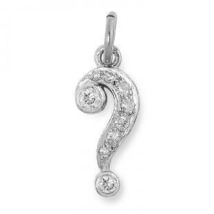A DIAMOND PENDANT ADLER designed as a question mark s