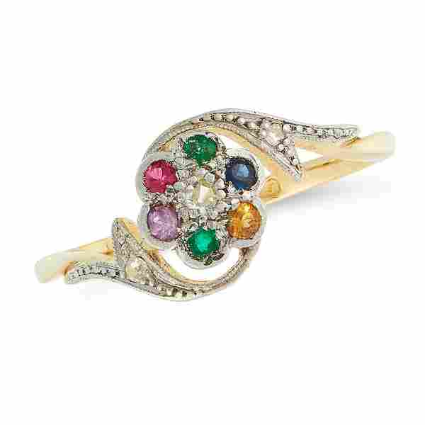 A GEMSET DEAREST RING, EARLY 20TH CENTURY in 18ct