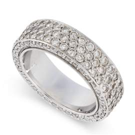 A DIAMOND ETERNITY BAND RING the band set with three