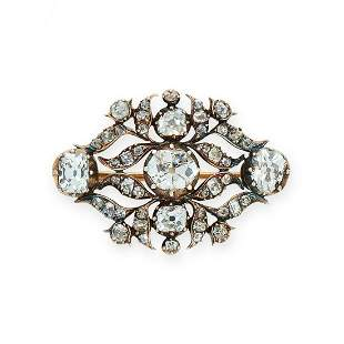 AN ANTIQUE DIAMOND BROOCH, EARLY 19TH CENTURY in yellow