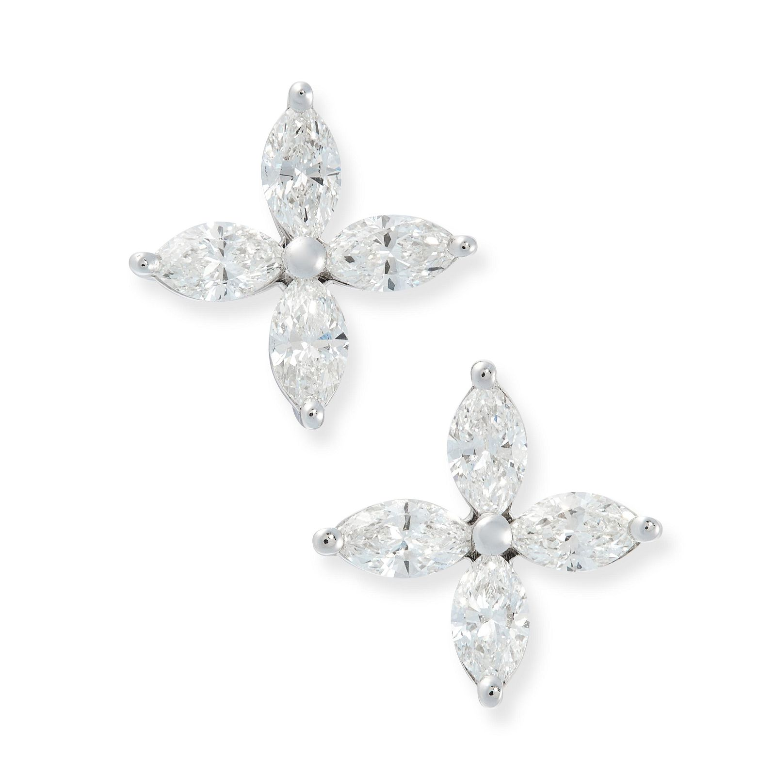 A PAIR OF VICTORIA DIAMOND STUD EARRINGS, TIFFANY & CO
