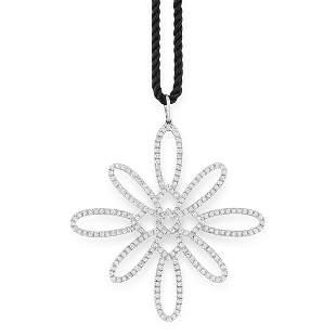 A DIAMOND PENDANT AND CHAIN, TIFFANY & CO in 18ct white