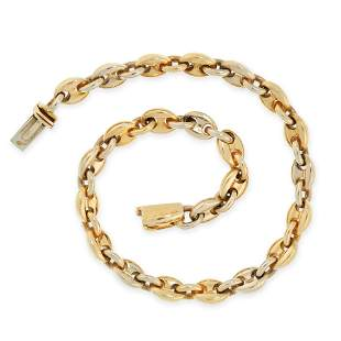 VINTAGE FANCY LINK BRACELET, CARTIER in 18ct yellow and