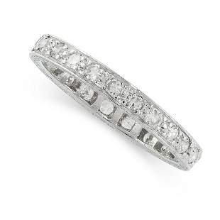 AN ART DECO DIAMOND ETERNITY RING, EARLY 20TH CENTURY