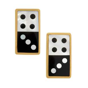 A PAIR OF VINTAGE MOTHER-OF-PEARL AND ONYX DOMINO