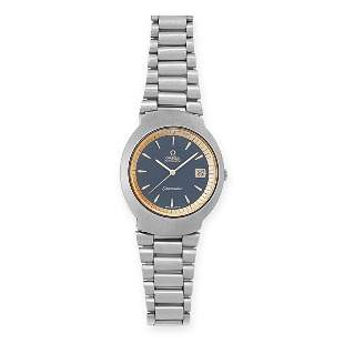 A OMEGA SEAMASTER WRIST WATCH, 1970 with blue dial and