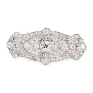 A DIAMOND PLAQUE BROOCH / PENDANT, EARLY 20TH CENTURY