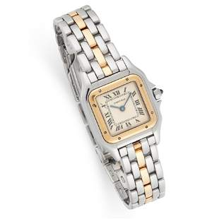 A LADIES PANTHERE WRIST WATCH, CARTIER in 18ct yellow