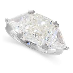 A 9.26 CARAT DIAMOND RING in platinum, set with a