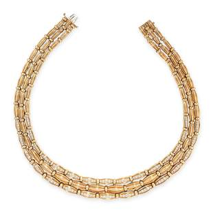 A VINTAGE DIAMOND NECKLACE, TIFFANY & CO in 18ct yellow
