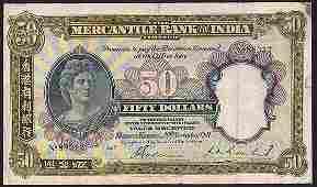 Hong Kong The Mercantile Bank of India Limited $50 1941