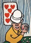 Alexander Calder, Card player, 1975