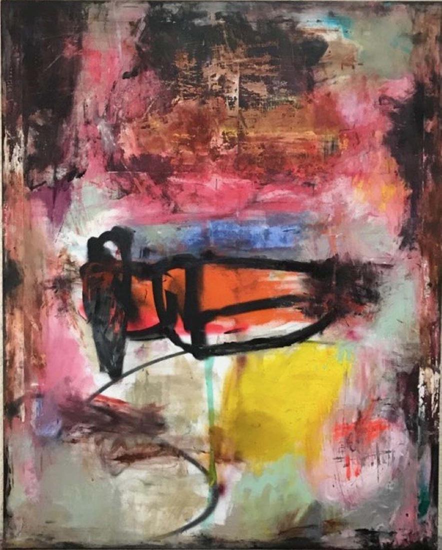 Tommaso Fattovich, Pantograph, mixed media on canvas,