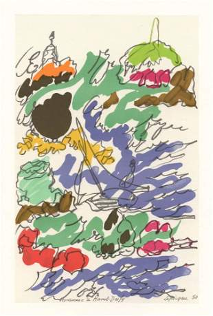 Charles Lapicque Homage to Dufy
