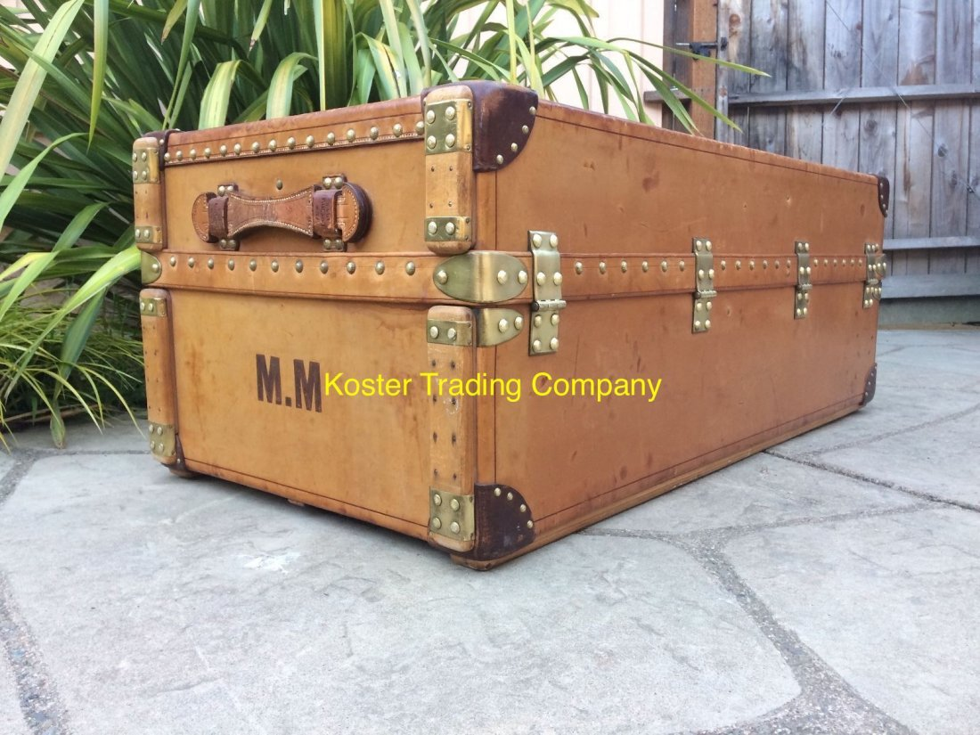 Louis Vuitton Antique Leather Wardrobe Steamer Trunk - 3