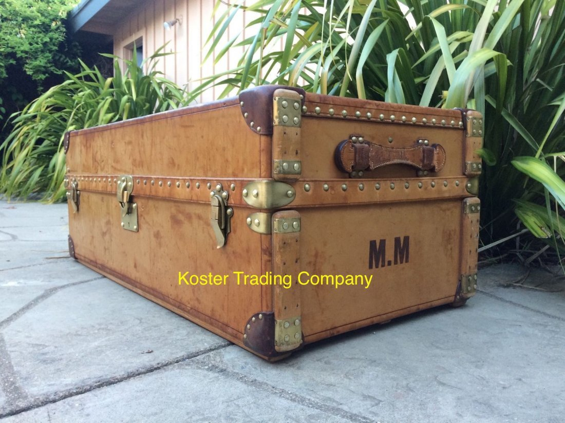 Louis Vuitton Antique Leather Wardrobe Steamer Trunk - 4