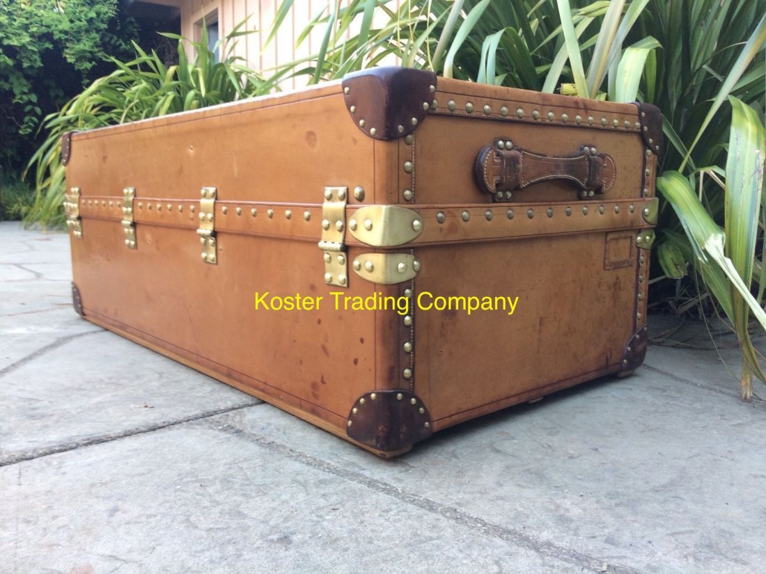 Louis Vuitton Antique Leather Wardrobe Steamer Trunk - 5