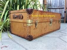 LOUIS VUITTON Antique LEATHER Travel Wardrobe Steamer T