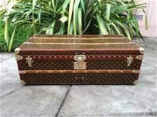 LOUIS VUITTON Antique Monogram Travel Steamer Trunk