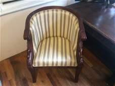 Maitland Smith Hand Carved Mahogany Empire armchairs