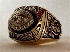 1989 Denver Broncos AFC Championship Players Ring Gold